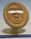 Bone face with ivory snow goggles by Charles Edwards, Savoonga   $400