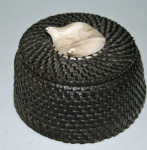Hanks, Carl; baleen and ivory basket $395