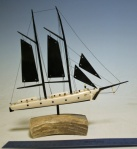 Ivory and baleen sailing Ship by Al Kaloks  $650