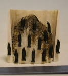 Ivory and bone rookery by Joseph Iyahuk  $190