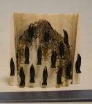 Ivory and bone rookery by Joseph Iyahuk  $190