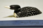 Ivory painted loon by Jamie Oozeva, Savoonga   $340