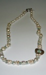 silver and peral necklace by Shari Milner