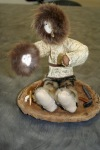 Iyakitan, Kimberly; walrus gut, ivory, seal skin doll 2  $500